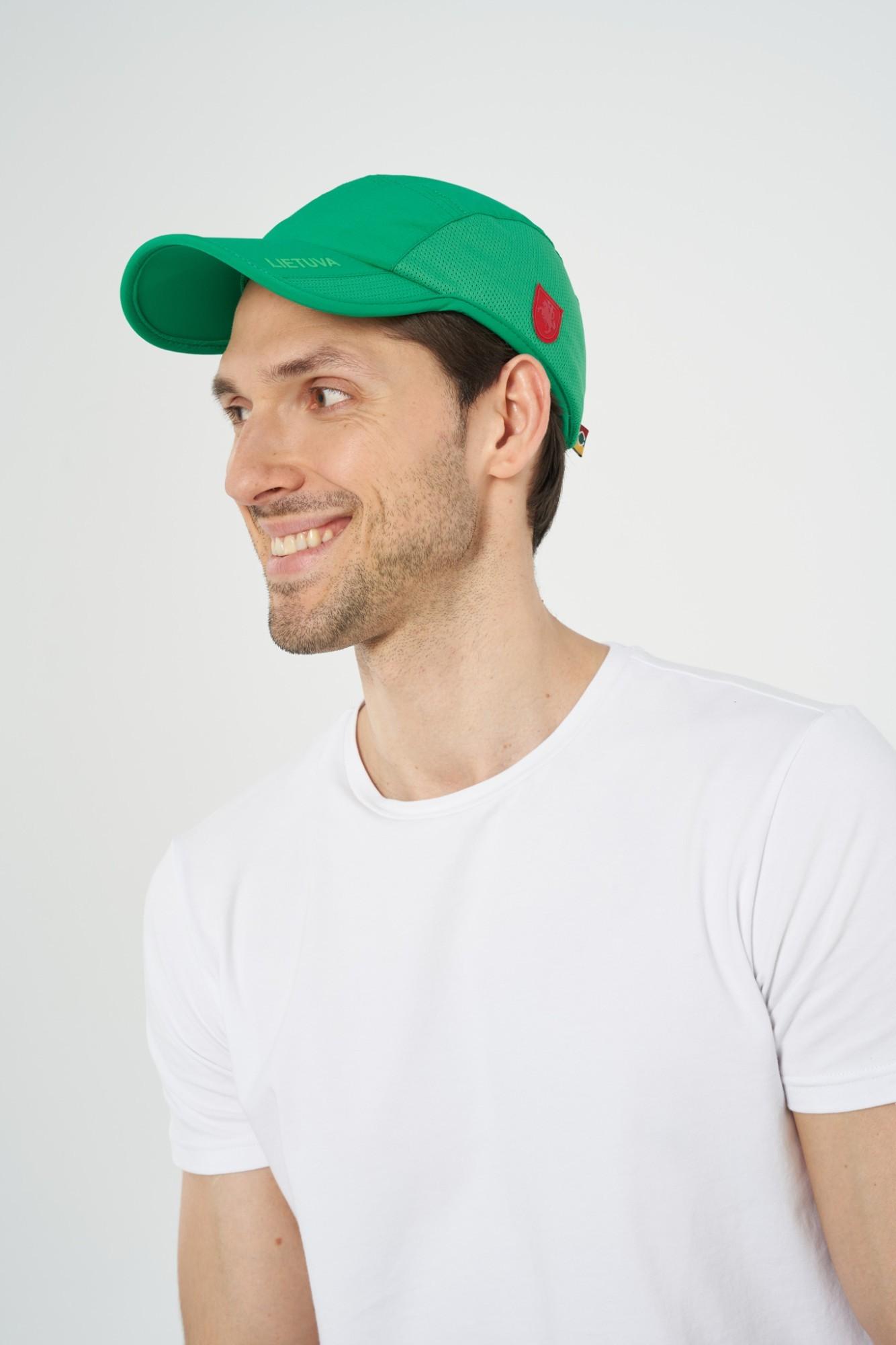AUDIMAS Funkcionali kepurė su snapeliu NOS1-06-322 Jolly Green One size