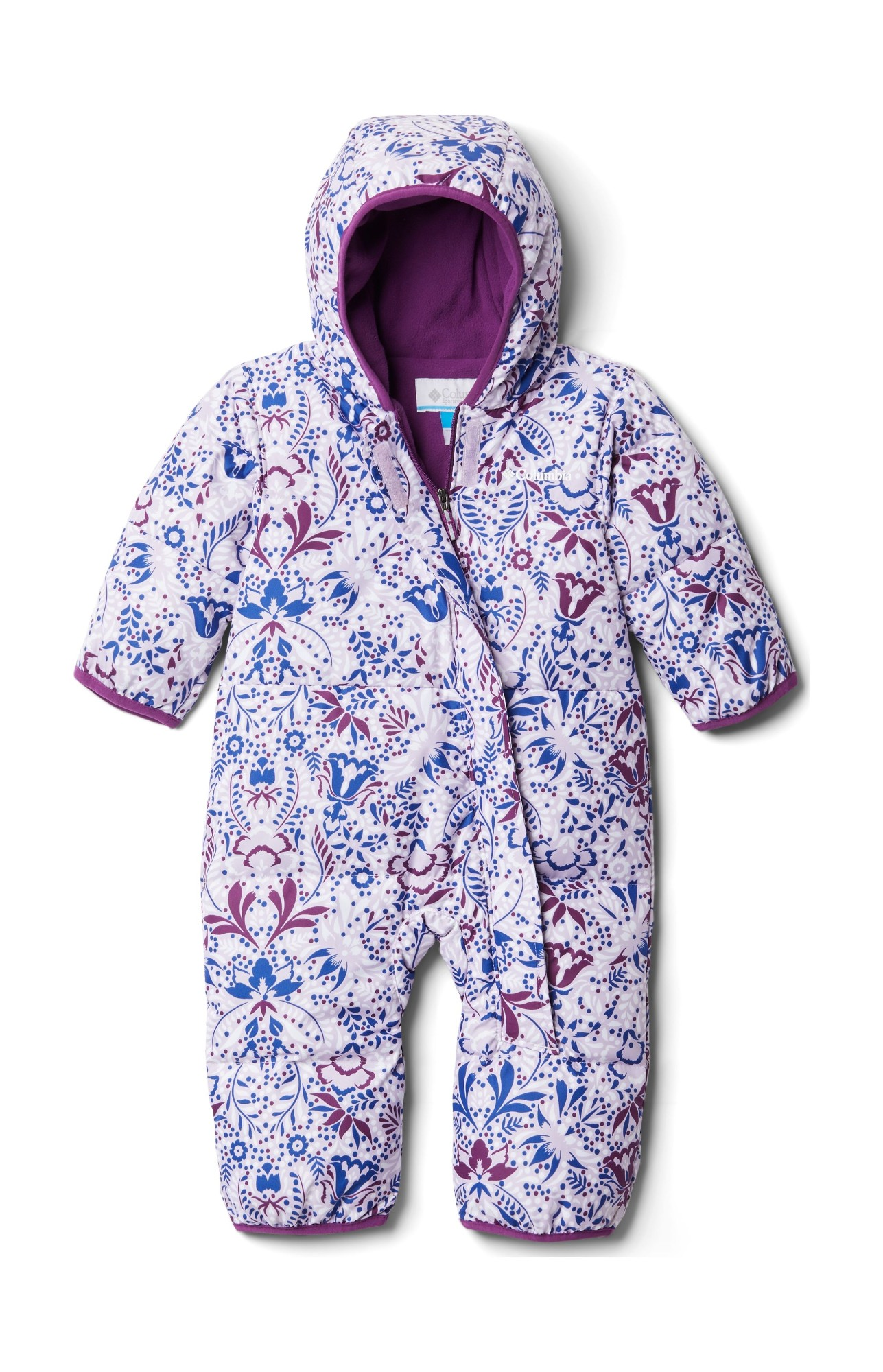 Columbia Snuggly Bunny Bunting Pale Lilac Blooming Dot Print 86