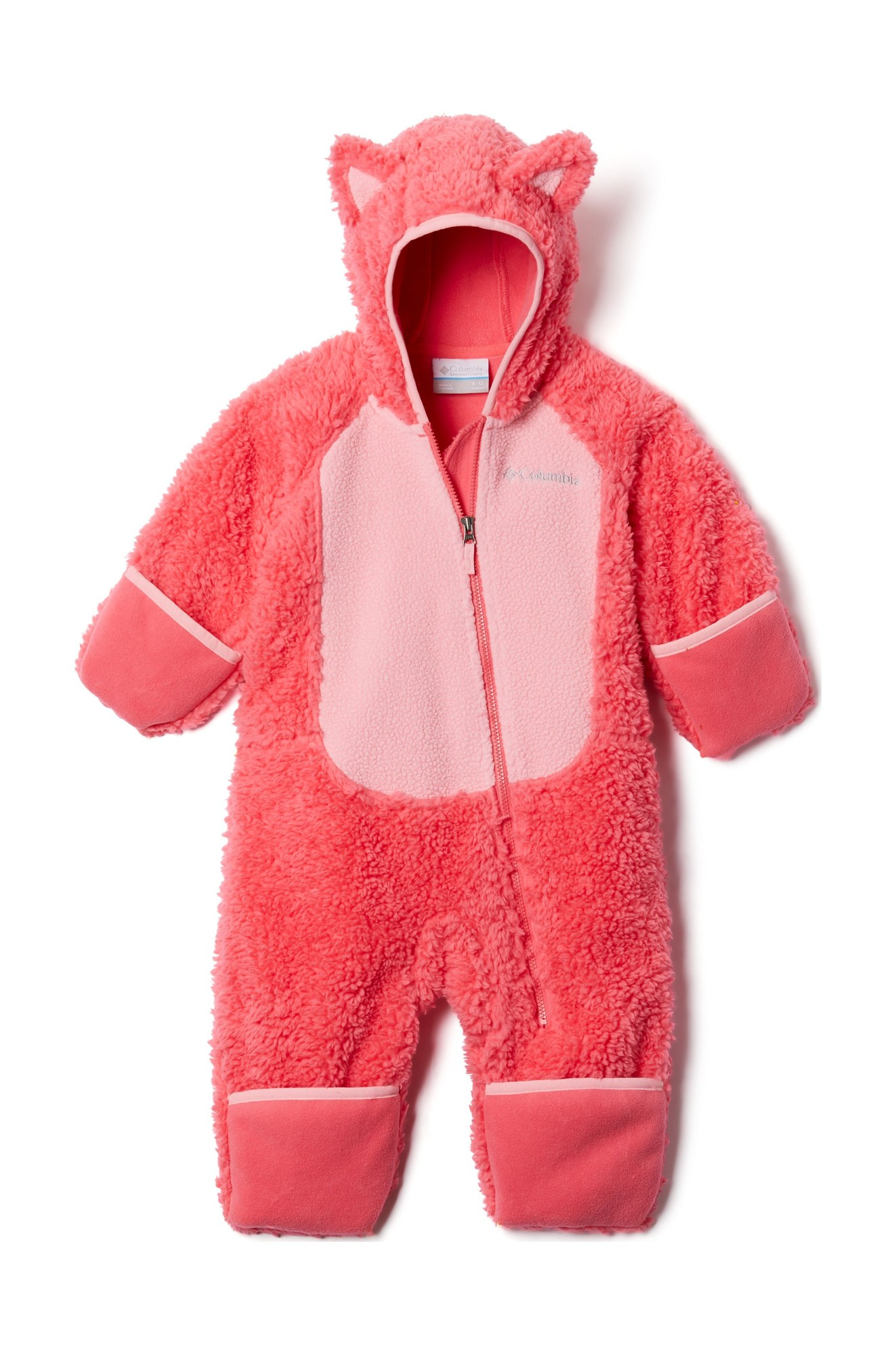 Columbia Foxy Baby Sherpa Bunting Bright Geranium/Pink Orchid 62