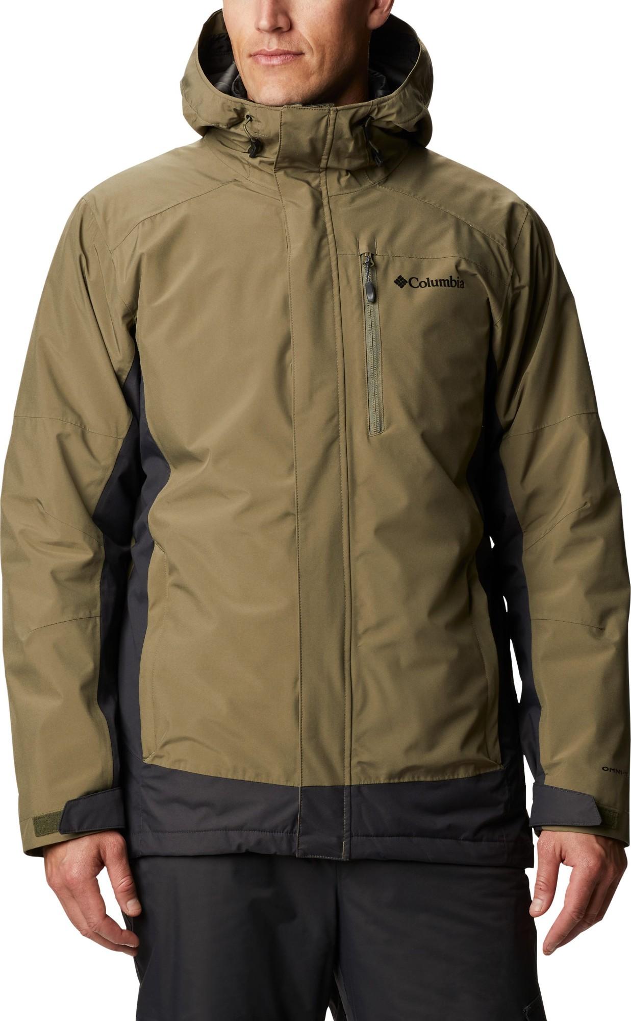 Columbia Lhotse III Interchange Jacket Men's Stone Green/Shark XL