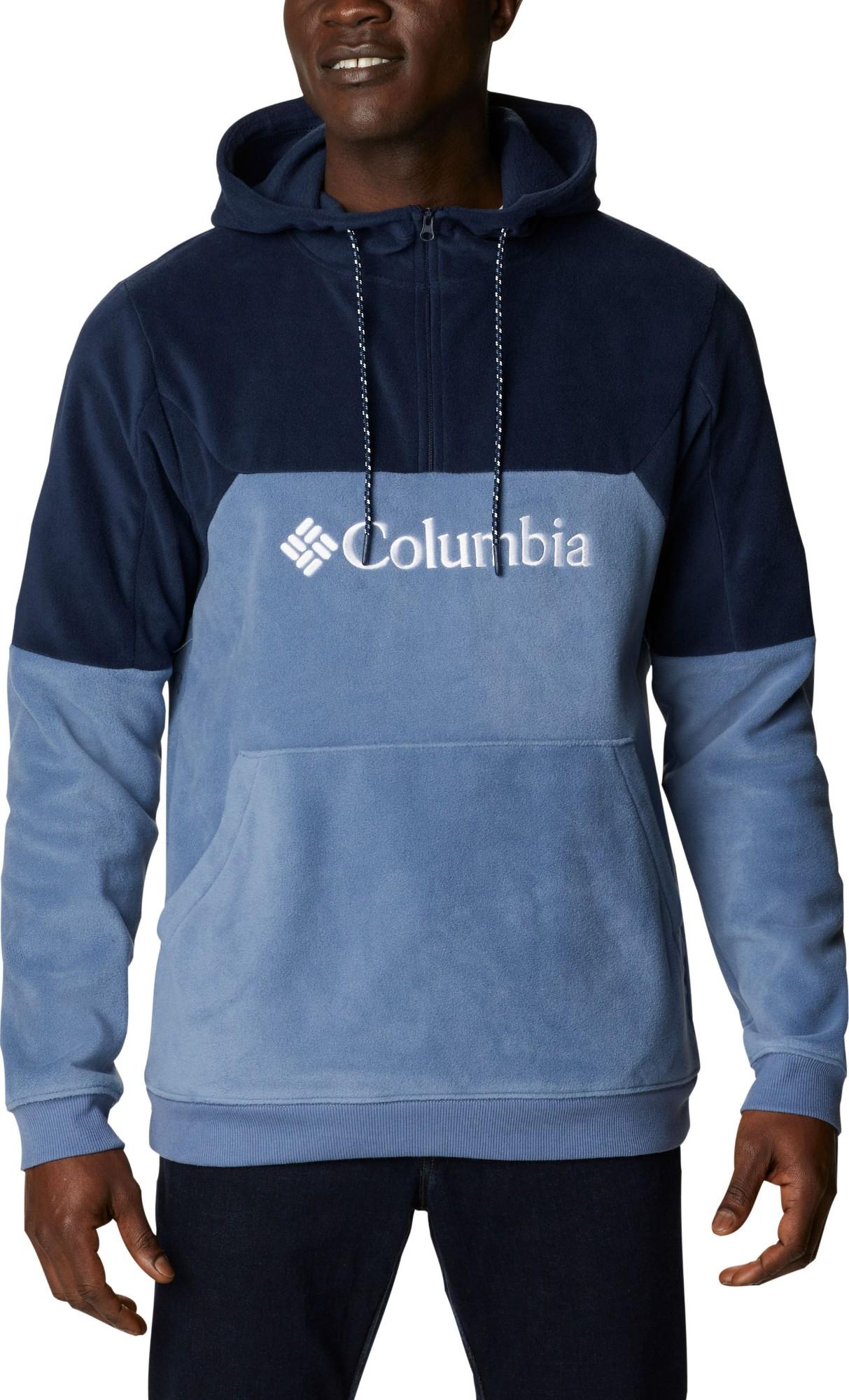 Columbia Lodge II Fleece Men's Hoodie Bluestone/Collegiate Navy/White XL