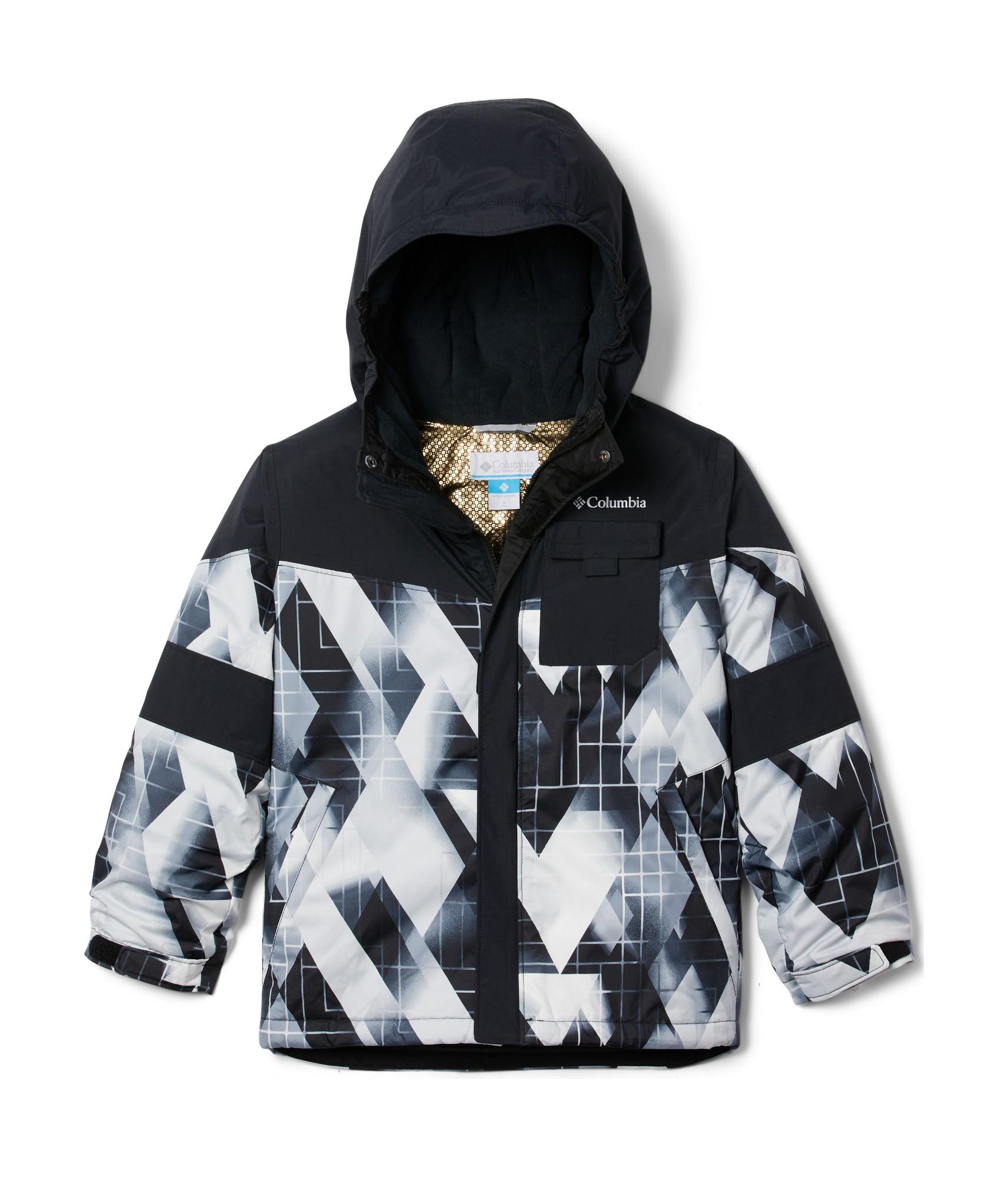 Columbia Mighty MogulII Jacket Boy's Black Geo Mt/Black 128