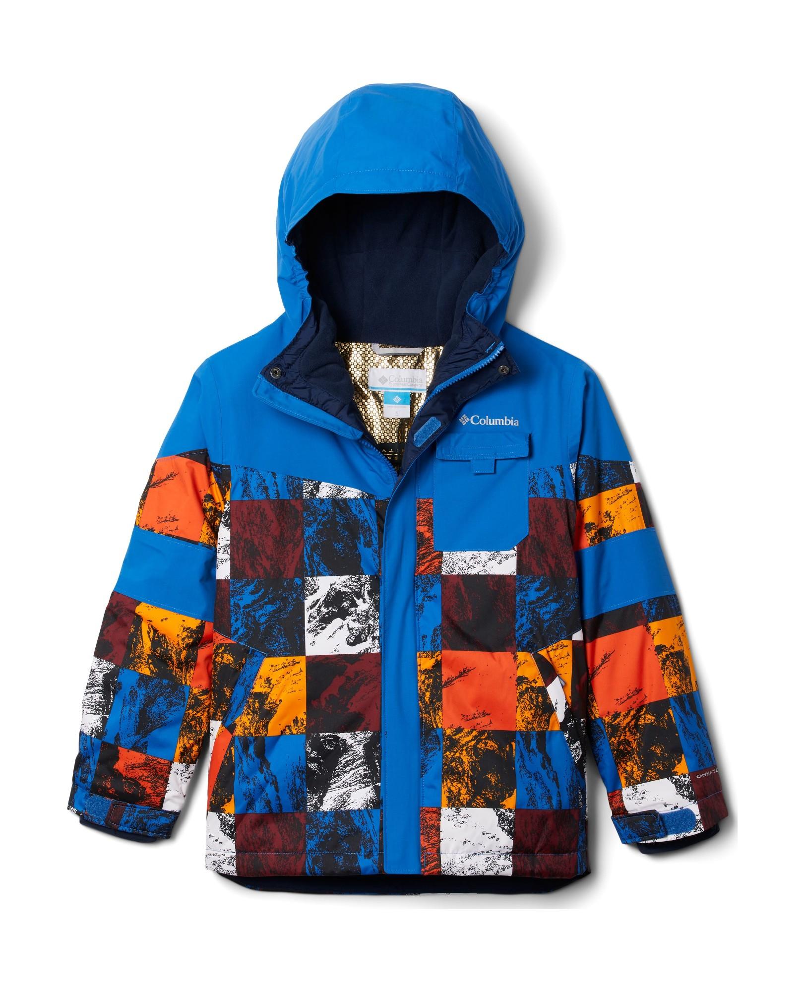 Columbia Mighty MogulII Jacket Boy's Bright Indigo Smorgas Berg/Brt Indigo 116
