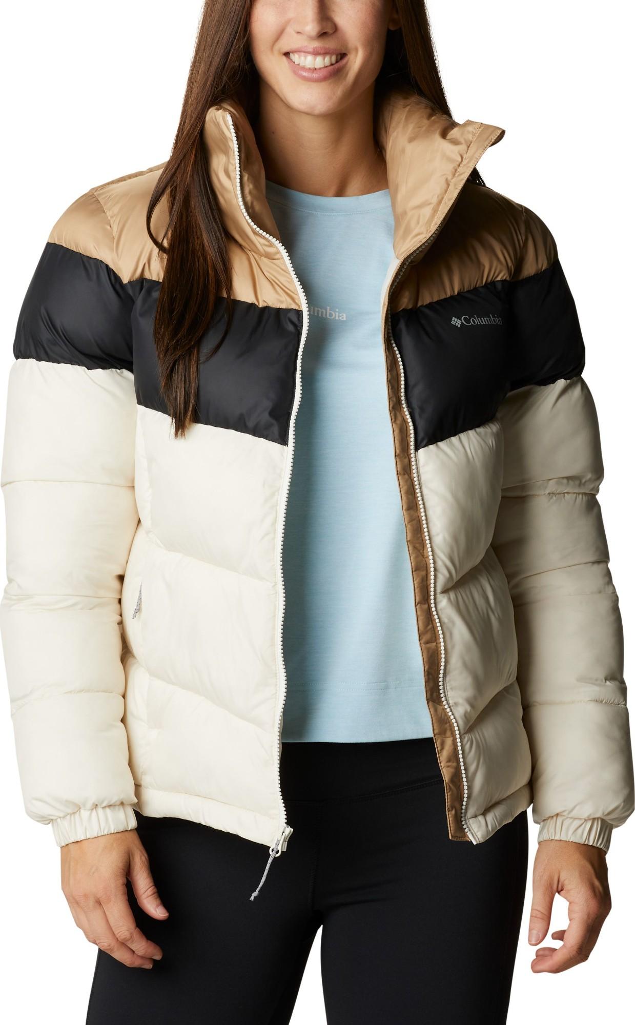 Columbia Puffect Color Blocked Jacket Women's Chalk/Black/Beach L