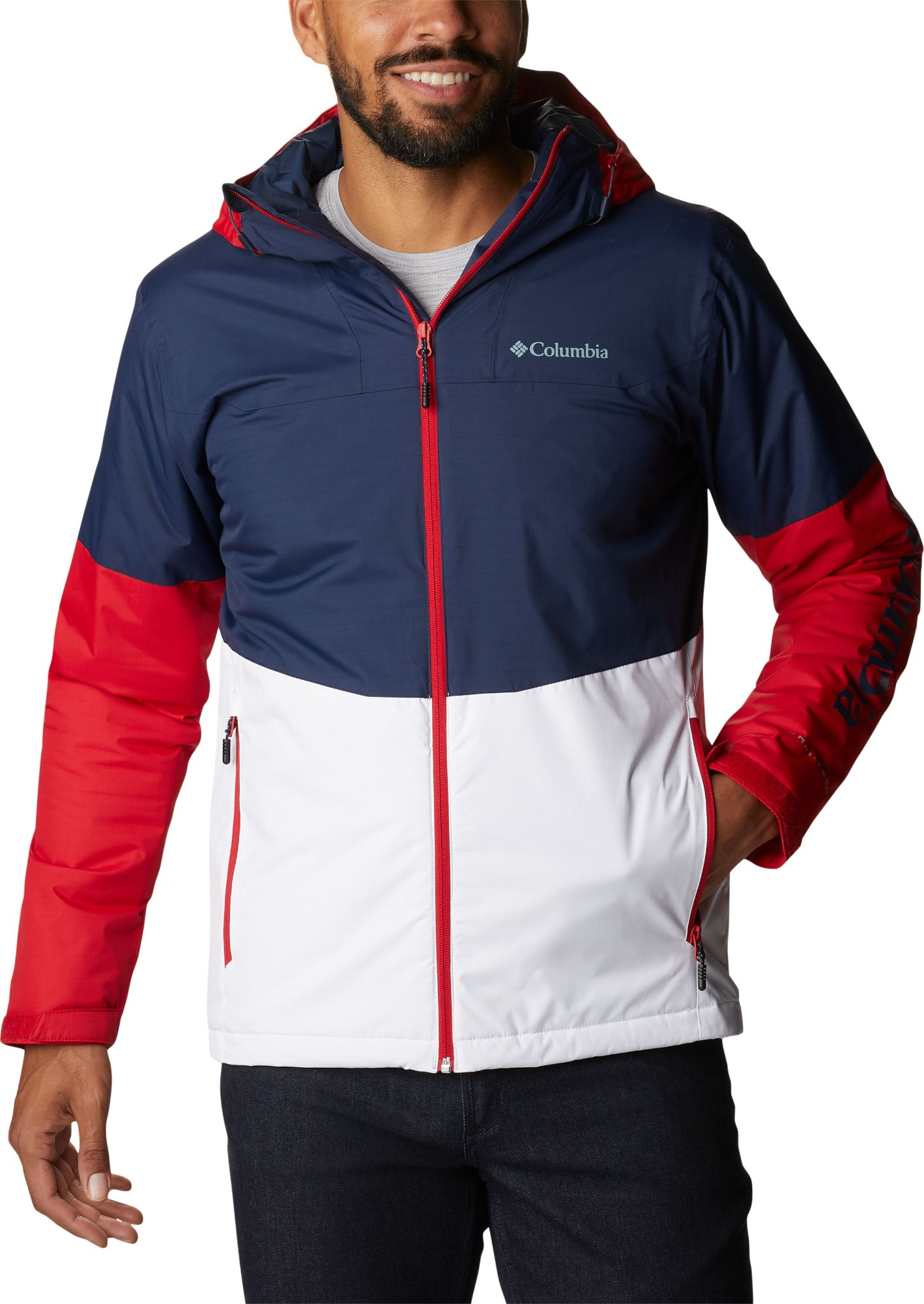 Columbia Point Park Insulated Jacket Men's Collegiate Navy/White/Mountain Red L