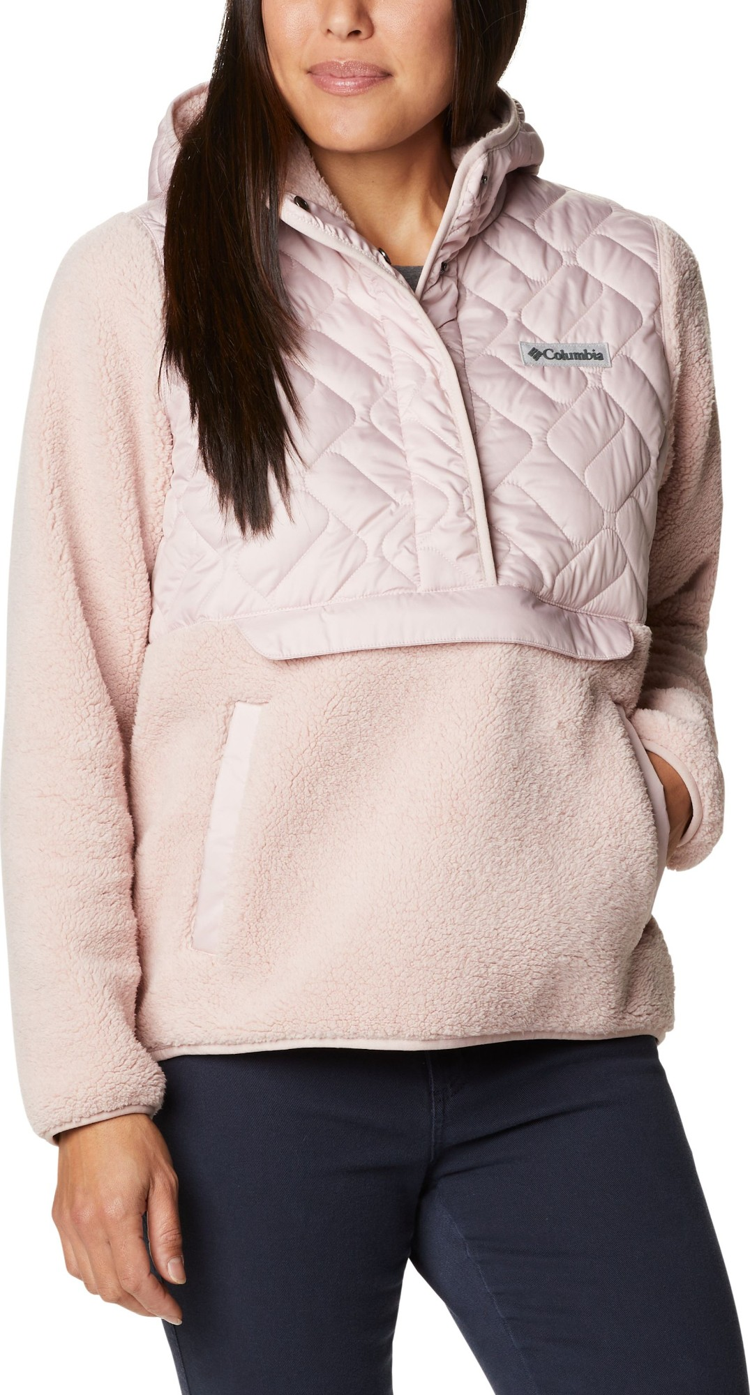 Columbia Sweet View Fleece Hooded Pullover Women's Mineral Pink S