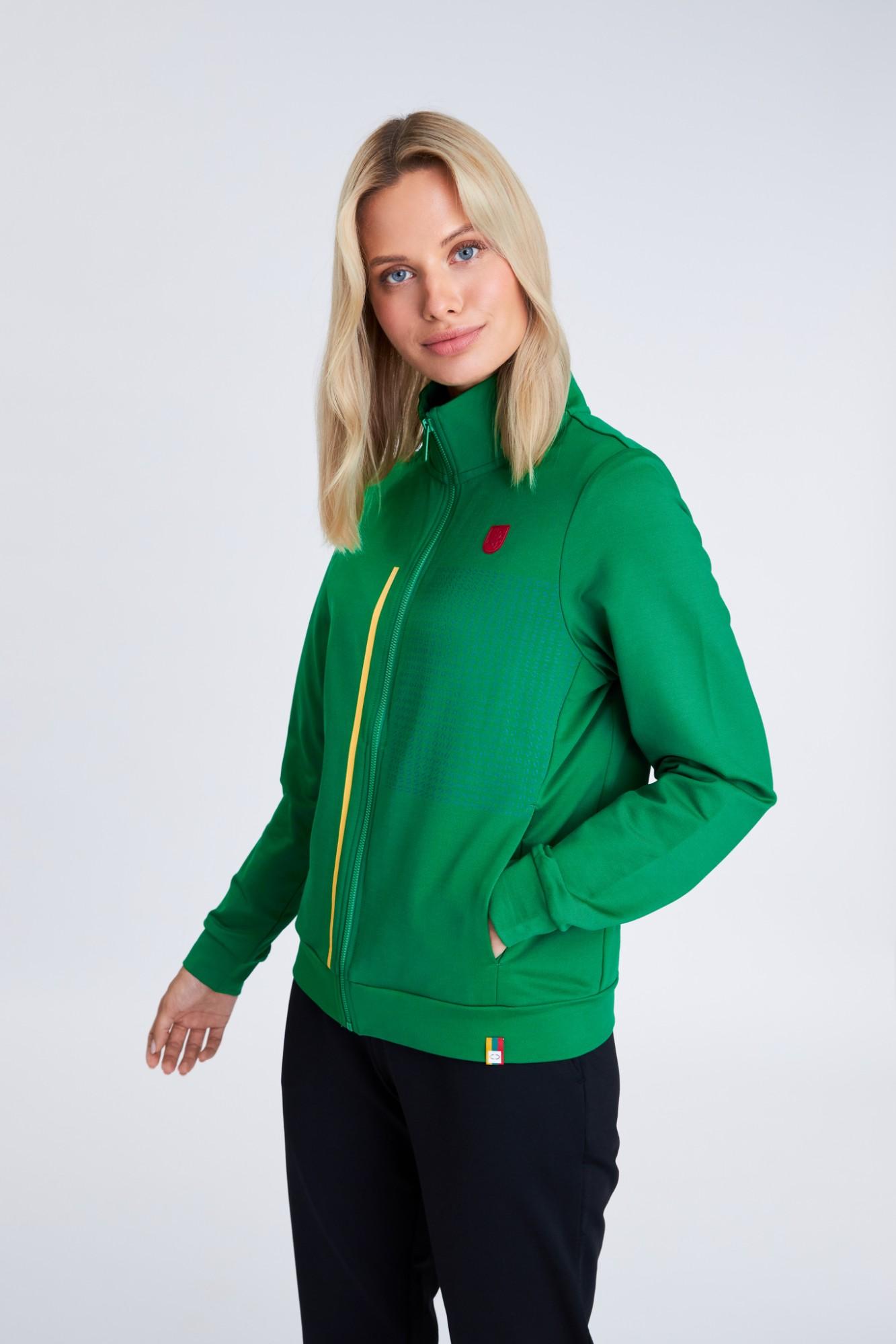 AUDIMAS Ats. džemperis medvilniniu vidumi 21LT-006 Jolly Green 406 XXL
