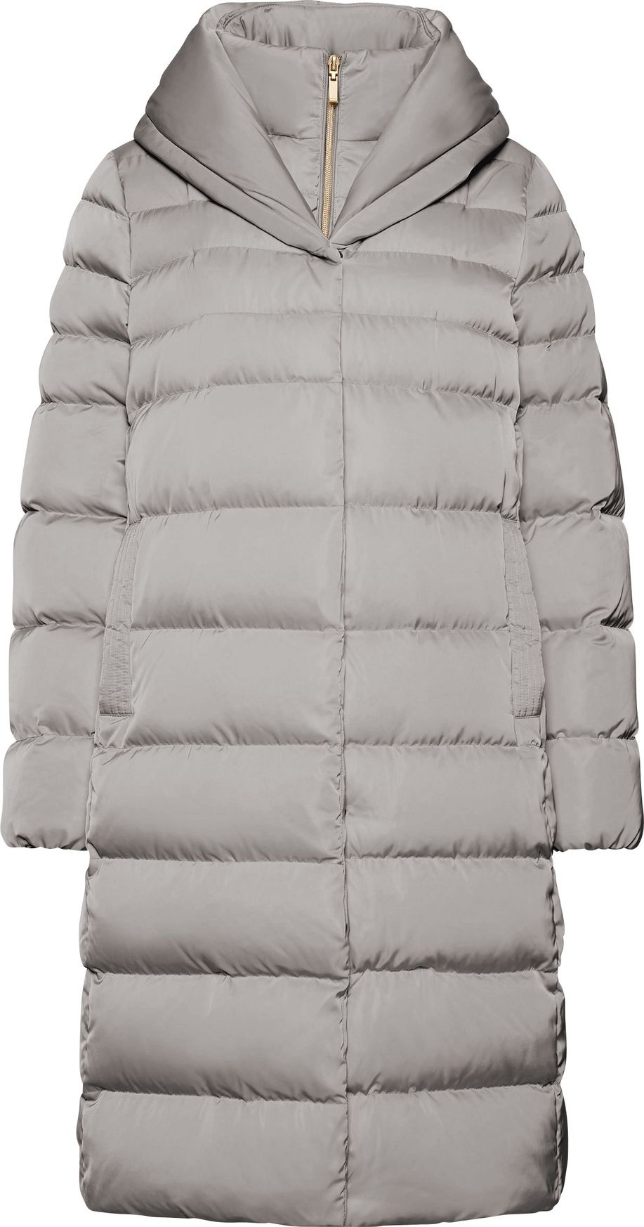 GEOX Chlod Long Coat W1425NT2655 Grey F1479 EU42