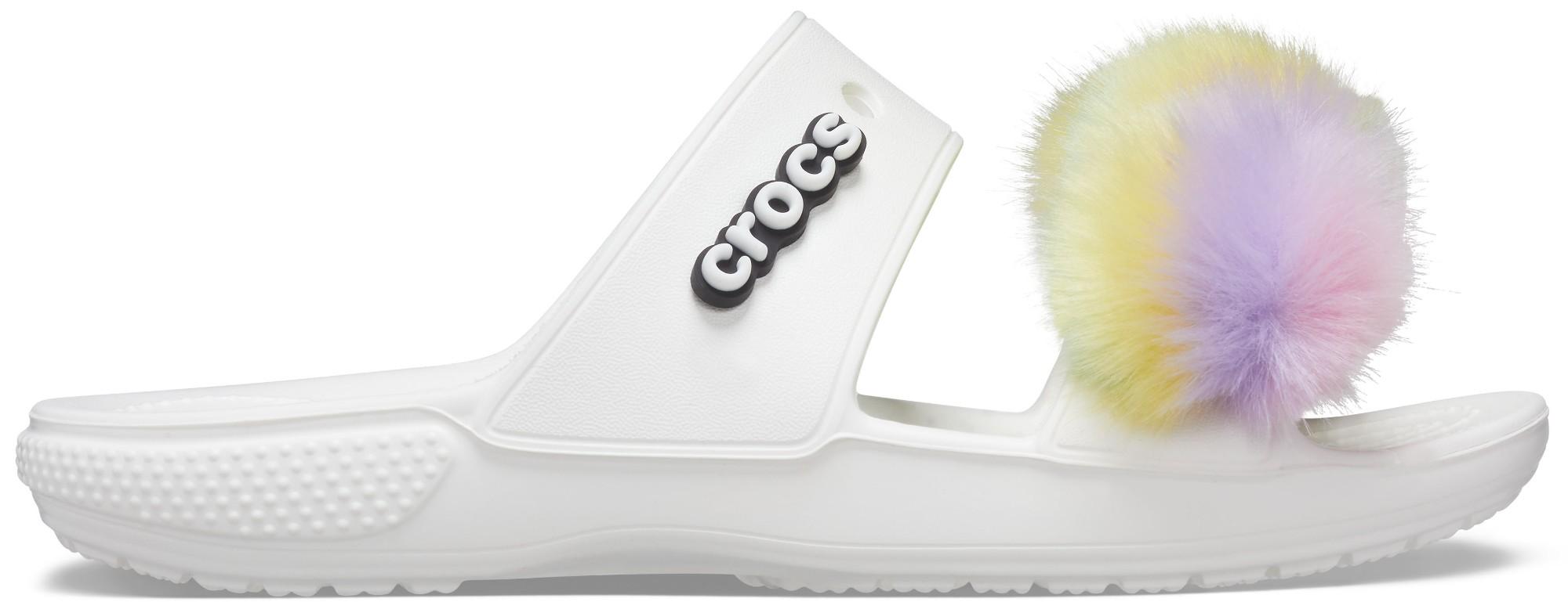 Crocs™ Classic Fur Sure Sandal White 38,5