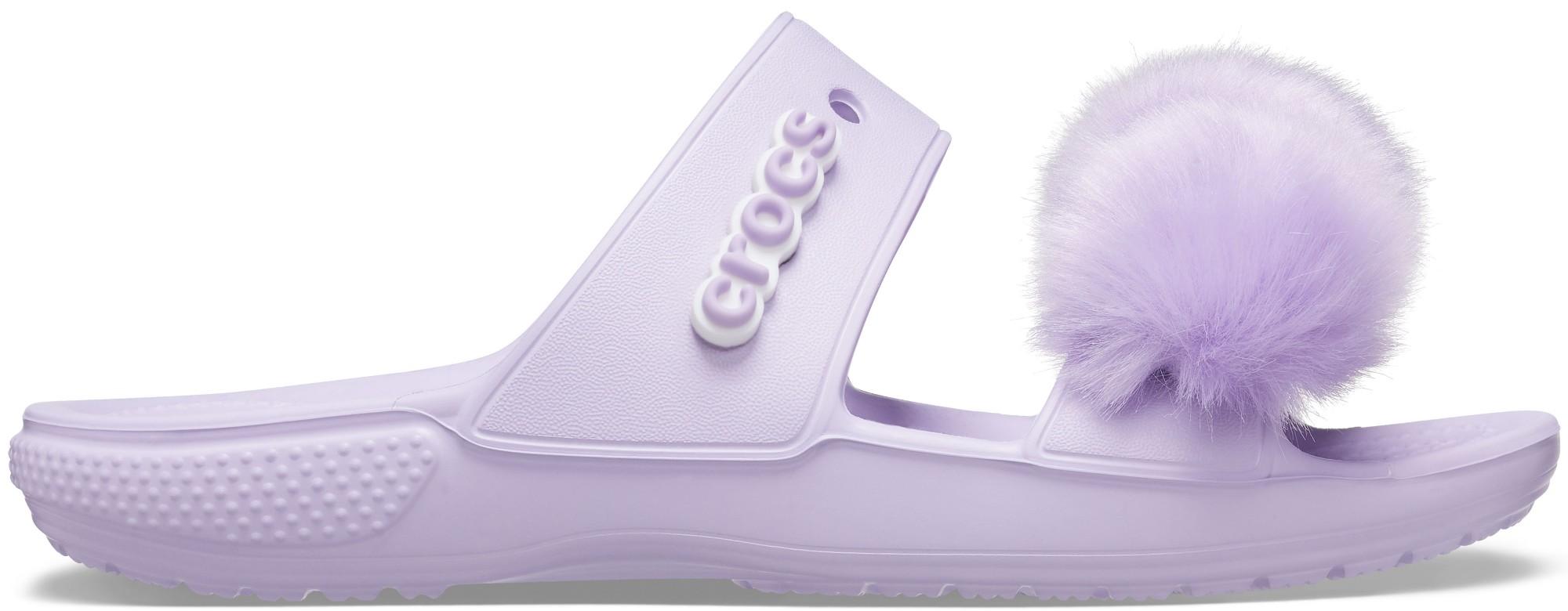 Crocs™ Classic Fur Sure Sandal Lavender 41
