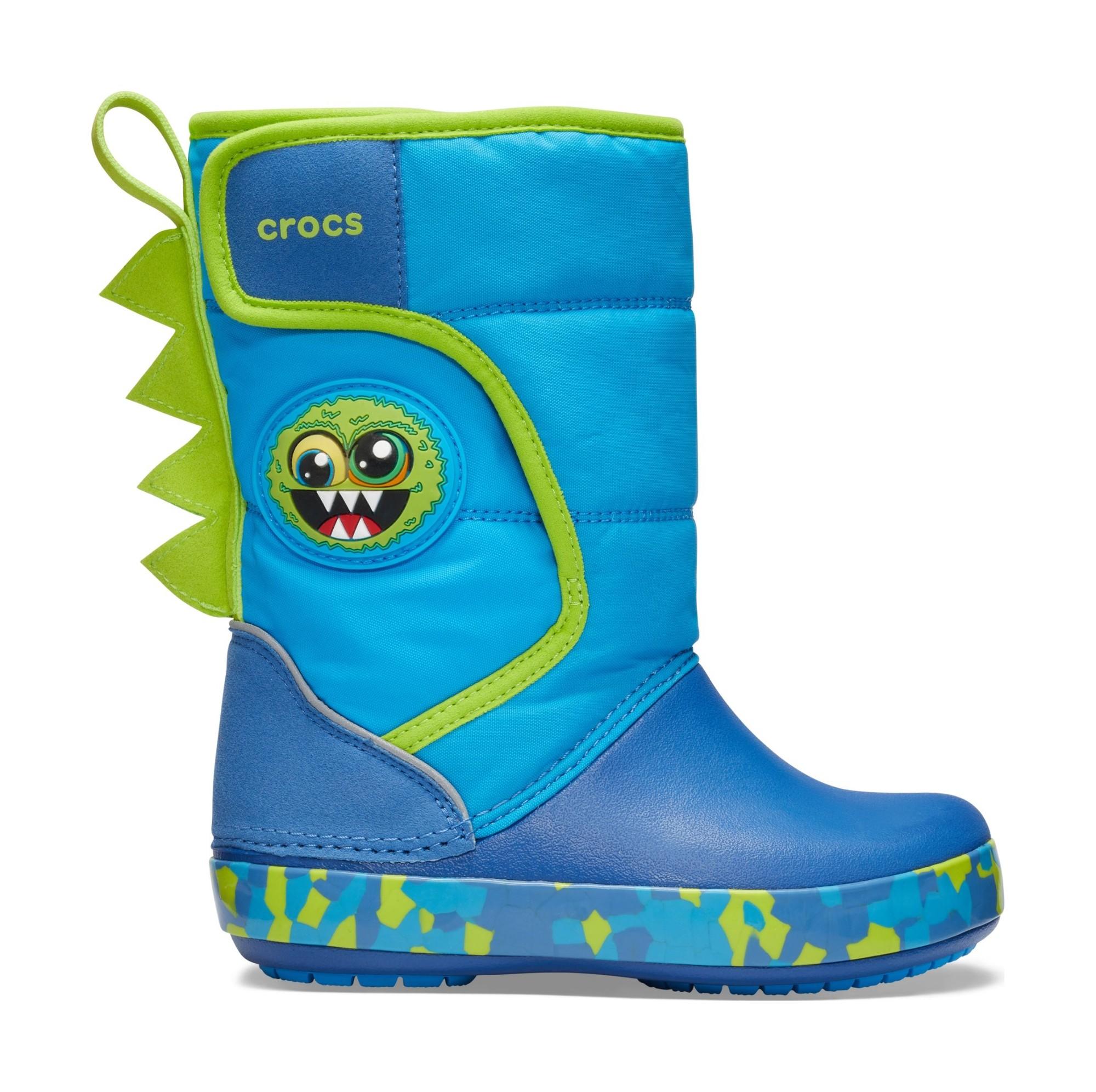 Crocs™ Funlab Monster Lights Boot Kid's Ocean 23