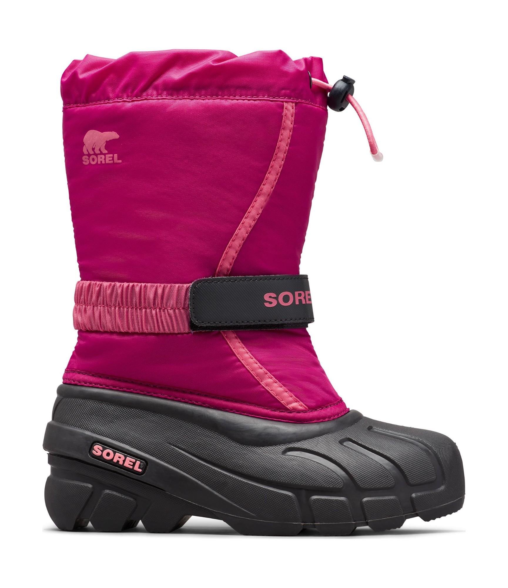 Sorel Flurry Youth Deep Blush/Tropic Pink 36