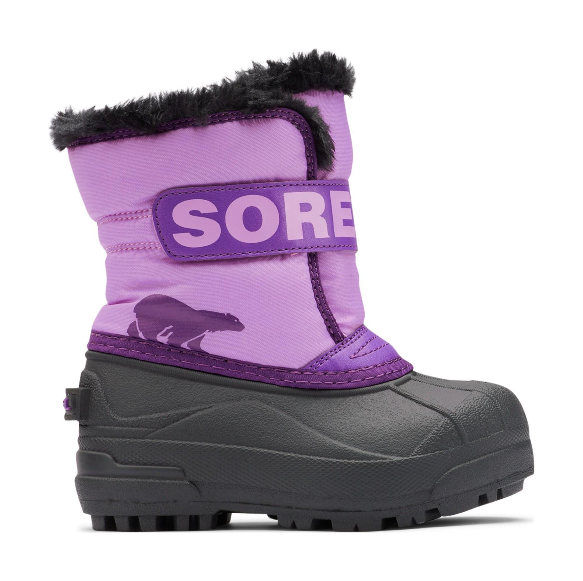 Sorel Snow Commander Kid's Gumdrop/Purple Violet 30