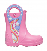 Crocs™ Funlab Unicorn Patch Rain Boot Kids Pink Lemonade