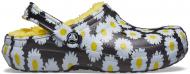 Crocs™ Classic Lined Vacay Vibes Clog Black Daisy