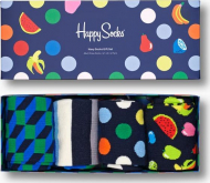 Happy Socks 4-Pack Navy Socks Gift Set Multi 6600