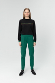 Audimas STRETCHY TROUSERS WITH COTTON LINING 20LT-011 Evergreen