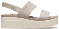 Crocs™ Brooklyn Low Wedge Womens Mushroom/Stucco