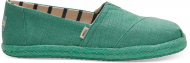 TOMS Canvas on Mono Rope Women's Alpargata Winter Green
