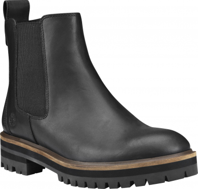 Timberland London Square Double Gore Chelsea Black Full-Grain