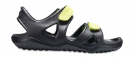 Crocs™ Kids' Swifwater River Sandal Black/Volt Green