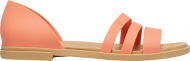 Crocs™ Tulum Open Flat Womens Grapefruit/Tan