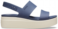 Crocs™ Brooklyn Low Wedge Womens Navy/Stucco