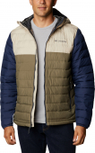 Columbia Powder Lite Hooded Jacket WO1151 Stone Green/Fossil/Collegiate Navy