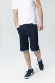 Audimas STRAIGHT SIL. DENIM SHORTS 2011-504 Indigo