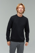 AUDIMAS Men's TERRY cotton sweater Black