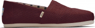 TOMS Heritage Canvas Women's Alpargata Black Cherry 10015766