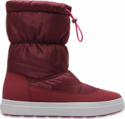Crocs™ Lodgepoint Shiny Pull-On Boot Garnet/Candy Pink