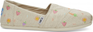 TOMS Farmers Market Embroidery Women's Alpargata Natural