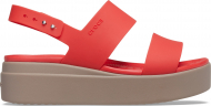 Crocs™ Brooklyn Low Wedge Womens Flame/Mushroom