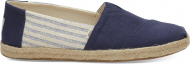 TOMS Canvas Ivy League on Rope Men's Alpargata Blue