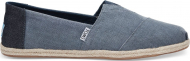 TOMS Coated Linen Rope Men's Alpargata Deep Ocean