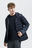 AUDIMAS Lightweight down men's jacket Black