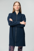 AUDIMAS Women's long loose-silhouette sweatshirt Navy Blazer
