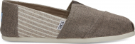 TOMS Coated Linen Stripe Men's Alpargata Toffee