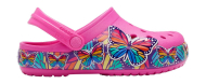 Crocs™ Funlab Multi Butterfly Band Light Clog Kids Electric Pink